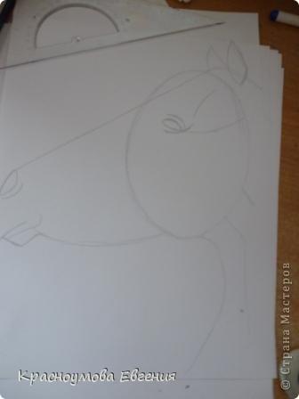 Здравствуйте! Я хочу показать вам, как рисовать голову лошади. Это очень просто!  фото 5