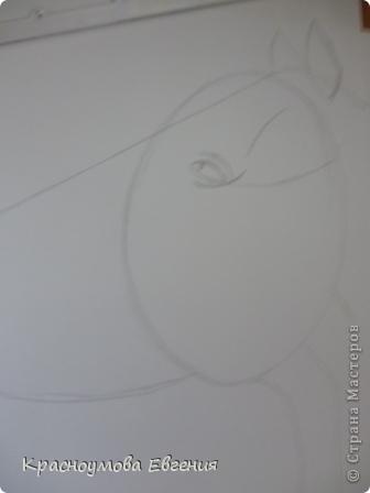 Здравствуйте! Я хочу показать вам, как рисовать голову лошади. Это очень просто!  фото 6