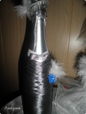 Вот,первая --сладкая парочка--мои свадебные бутылочки жених и невеста!  фото 3