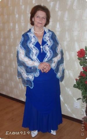 недавно наша мама - бабушка (мама моего мужа) праздновала свой юбилей вот какой подарок связался у меня к этому дню фото 1