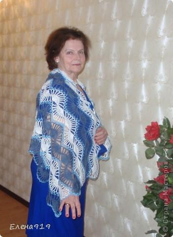 недавно наша мама - бабушка (мама моего мужа) праздновала свой юбилей вот какой подарок связался у меня к этому дню фото 2