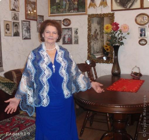 недавно наша мама - бабушка (мама моего мужа) праздновала свой юбилей вот какой подарок связался у меня к этому дню фото 3