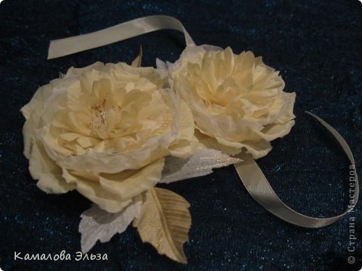 Цветы из органзы и вуали своими руками