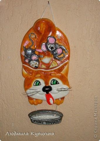 "Кот с мышами ""Жизнь удалась""  Размер: 25х13"