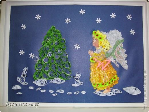 """На конкурс """"Рождественские фантазии"""" Оля Лисаневич сделала такую картину. фото 1"""