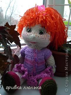 """вот такая девочка """"родилась"""" для моей племянницы. Рыжик связана по схеме Розетки. Спасибо вам большое за схемку. фото 6"""