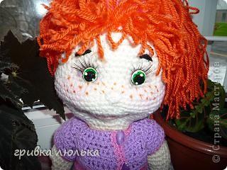 """вот такая девочка """"родилась"""" для моей племянницы. Рыжик связана по схеме Розетки. Спасибо вам большое за схемку. фото 4"""