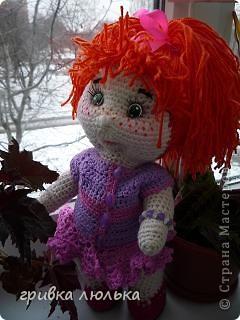 """вот такая девочка """"родилась"""" для моей племянницы. Рыжик связана по схеме Розетки. Спасибо вам большое за схемку. фото 5"""