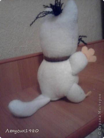моё новое творение. флисовый котик, рост 15 см, шалун, зовут котенок БУУУ фото 3