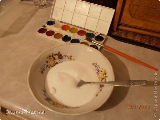 В этот раз решила красить соль акварелью.  фото 1