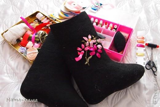Украсим валенки цветами! фото 2