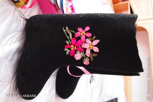 Украсим валенки цветами! фото 4