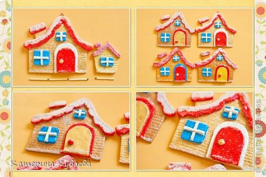 Всем снова здравствуйте!!)))) На этот раз, мы решили сделать вот такие домики и назвали их «Снежные избушки»))) Как всегда это просто и интересно))))  фото 6