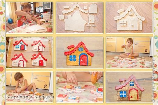 Всем снова здравствуйте!!)))) На этот раз, мы решили сделать вот такие домики и назвали их «Снежные избушки»))) Как всегда это просто и интересно))))  фото 5