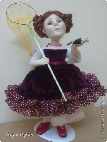 Дорогие, Мастерицы!Хочу познакомить вас, с моей новой куклой. Имя я ей не придумала, поэтому пусть будет Бабочка. фото 1