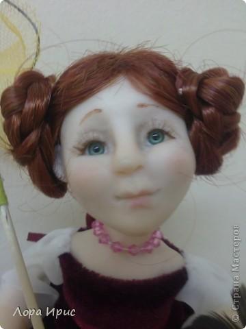 Дорогие, Мастерицы!Хочу познакомить вас, с моей новой куклой. Имя я ей не придумала, поэтому пусть будет Бабочка. фото 3