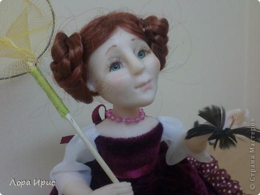 Дорогие, Мастерицы!Хочу познакомить вас, с моей новой куклой. Имя я ей не придумала, поэтому пусть будет Бабочка. фото 2