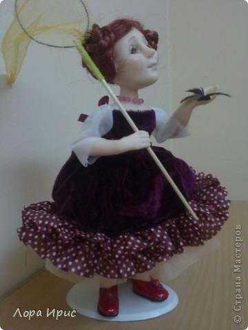 Дорогие, Мастерицы!Хочу познакомить вас, с моей новой куклой. Имя я ей не придумала, поэтому пусть будет Бабочка. фото 5