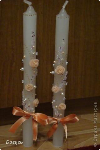 Свадебные бокалы и свечи фото 5
