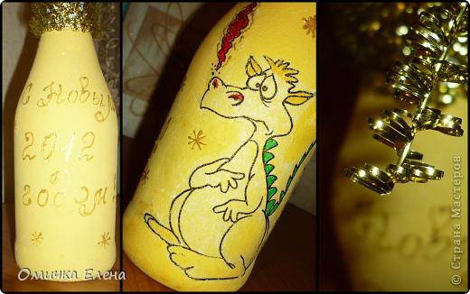 Новогоднее настроение продолжается......а теперь бутылочки. фото 2