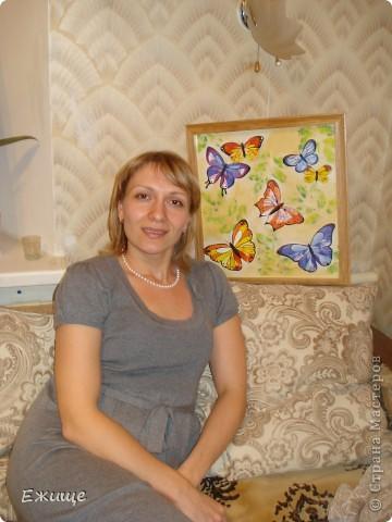 Бабочки выполнены гуашью на бумаге-формат 54х51см фото 2
