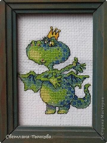 Новогодняя миниатюра-дракончик,приносящий удачу. фото 2