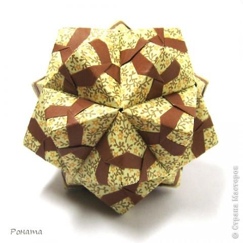 Привет Страна! Сонобы не отпускают меня)) Вот такие вариации <strong>Floral sonobe</strong> накрутились:  Name: <strong>Kaleidoscope</strong> Designer: Natalia Romanenko Units: 30 Paper: 7.5*7.5 cm Final height: ~ 7 cm Assembled without glue  фото 1