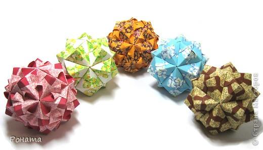 Привет Страна! Сонобы не отпускают меня)) Вот такие вариации <strong>Floral sonobe</strong> накрутились:  Name: <strong>Kaleidoscope</strong> Designer: Natalia Romanenko Units: 30 Paper: 7.5*7.5 cm Final height: ~ 7 cm Assembled without glue  фото 4