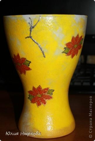 Моя первая ваза.Сделала сегодня. фото 2