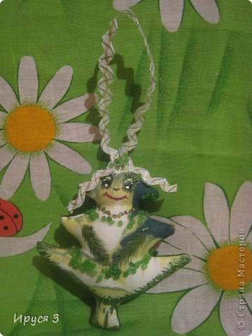 Игрушка Новый год Шитьё Дракончики и ёлочки - Бисер Нитки Ткань фото 3.