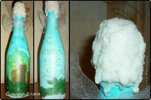 Новогоднее настроение продолжается......а теперь бутылочки. фото 3