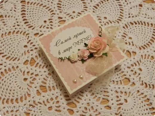 Эту коробочку я сделала на День Матери для своей мамули фото 1