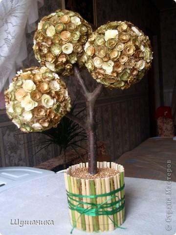 Вот такое вот деревце у меня получилось! Почитав МК Eiris ,вдохновилась и сотворила себе не очень маленькое,но чудо! фото 1