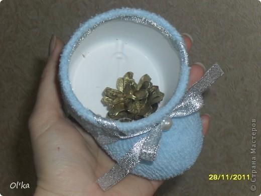Увидела сегодня запись в блоге у Ликмы. Так мне понравились её башмачки для подарочков, что не удержалась и сразу же смастерила себе. :) фото 3