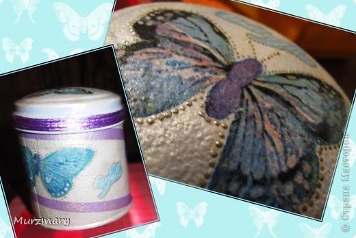 Бабочки вдохновили меня на такую вот баночку для чая: фото 1
