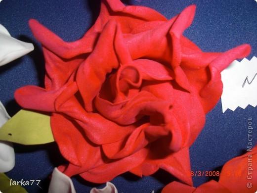 Букет невесты-дублер.Цветы из  замечательного фоамирана. фото 4