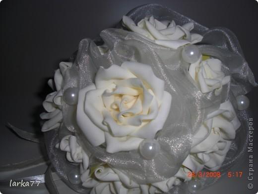 Букет невесты-дублер.Цветы из  замечательного фоамирана. фото 1