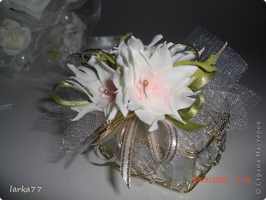 Букет невесты-дублер.Цветы из  замечательного фоамирана. фото 2