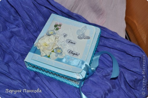 Коробочка для денежного подарка на свадьбу фото 1