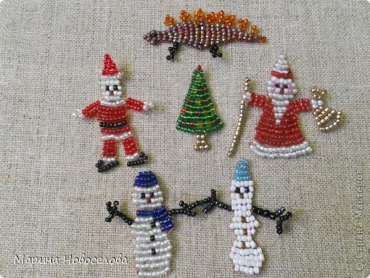 Новогодние поделки с бисером своими руками