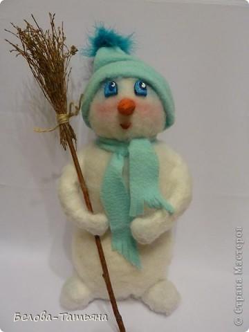 На улице снега не дождаться, делаем снеговичка дома.  фото 12