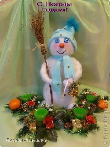 На улице снега не дождаться, делаем снеговичка дома.  фото 1