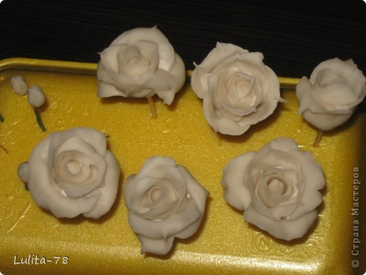Моя первая лепка цветов!!! фото 2