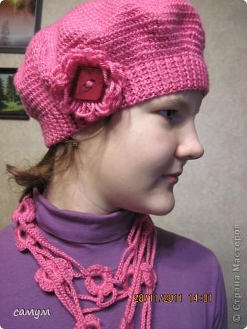 из остатка связала украшение- шарф фото 1
