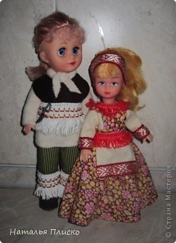 """В детском саду мне дали очередное """"домашнее"""" задание - пошить куклам наряды  с национальной тематикой. Вот что у меня получилось... фото 1"""