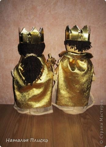 """Эта царская семья - очередной """"госзаказ"""" из детского сада. Воспитательница попросила сделать для занятий короля с королевой, а у меня получились царь с царевной...  фото 3"""