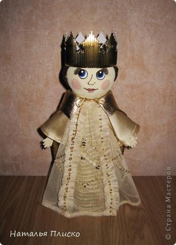"""Эта царская семья - очередной """"госзаказ"""" из детского сада. Воспитательница попросила сделать для занятий короля с королевой, а у меня получились царь с царевной...  фото 5"""