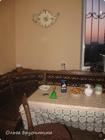 Часы делала на кухню для родителей. фото 20