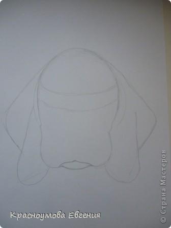 Здравствуйте! Я собираюсь показать вам, как я рисую бигля! Берите карандаш, бумагу и резинку! Приступим... фото 6