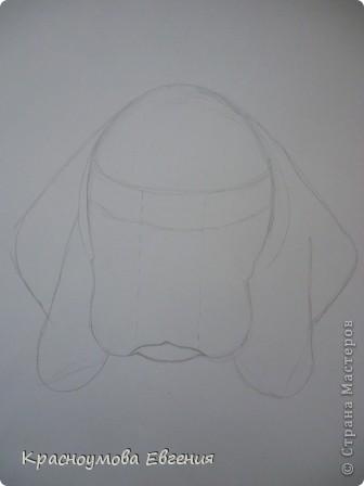 Здравствуйте! Я собираюсь показать вам, как я рисую бигля! Берите карандаш, бумагу и резинку! Приступим... фото 8